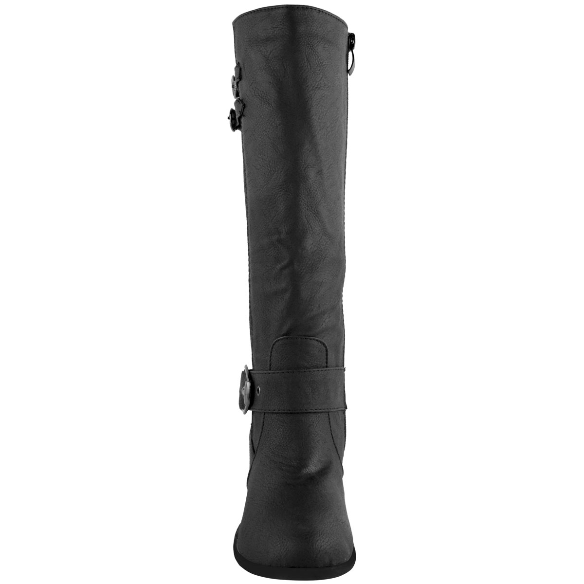 Womens-Ladies-Knee-Calf-High-Boots-Block-Heels-Stretchy-Thigh-Shoes-Grip-Size thumbnail 15