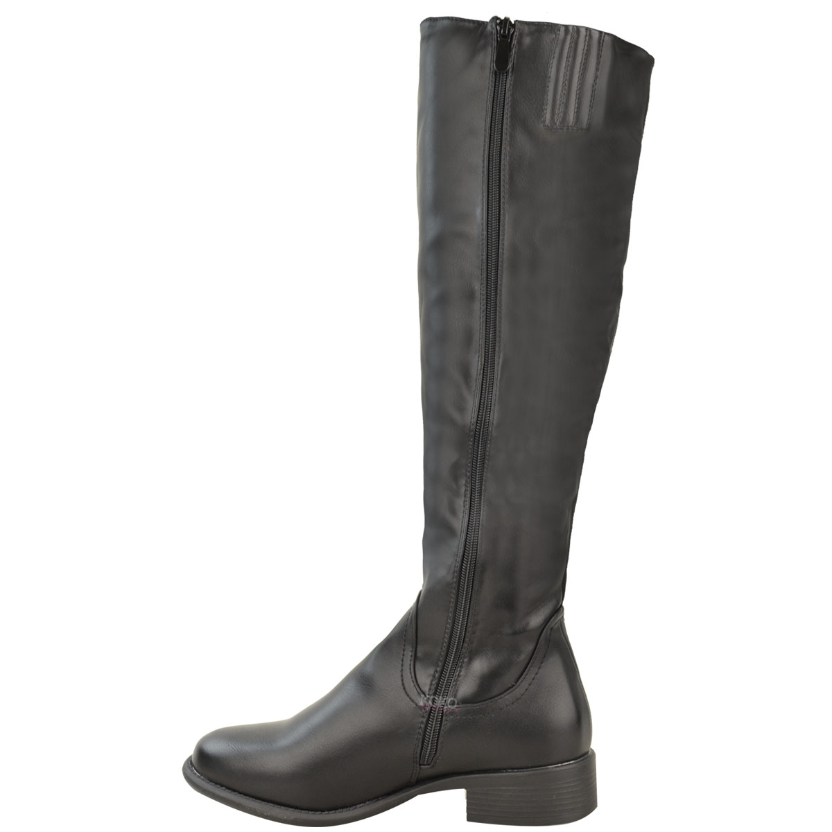 new womens flat knee high stretch wide boots