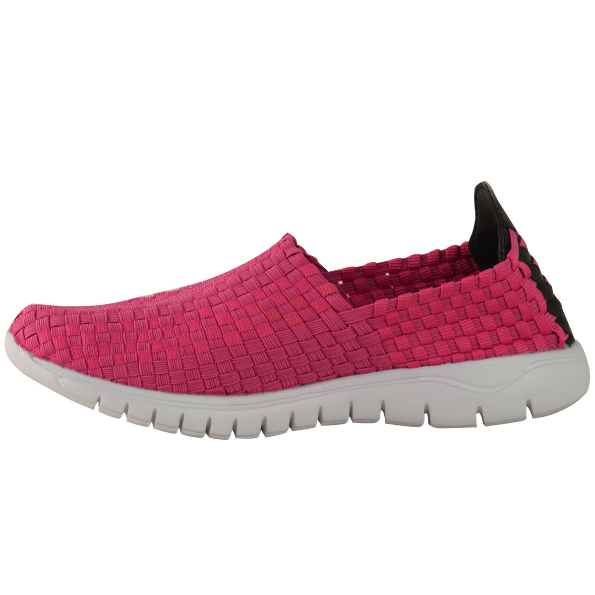 new womens trainers woven elasticated stretch