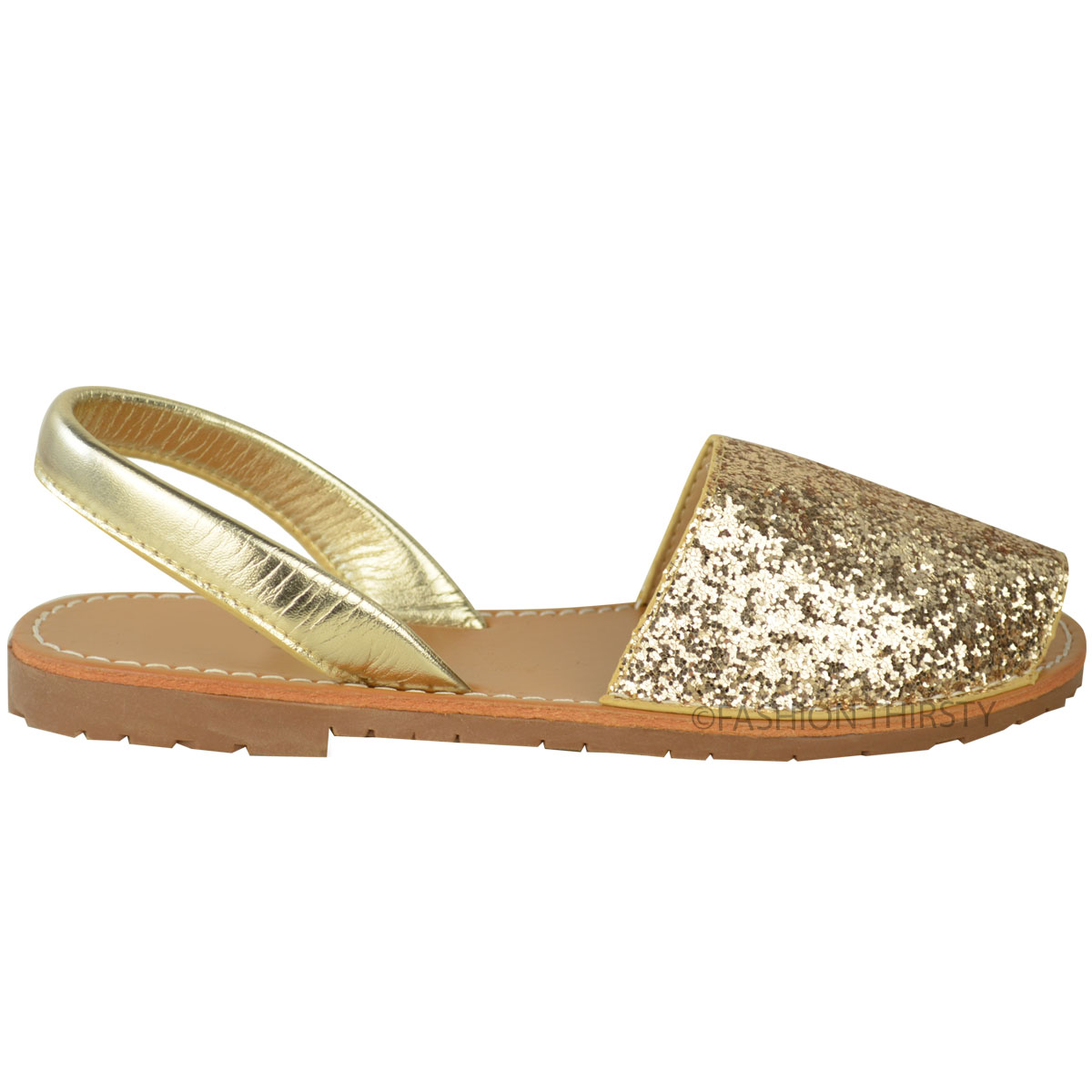 womens ladies summer menorcan sandals glitter sling back. Black Bedroom Furniture Sets. Home Design Ideas