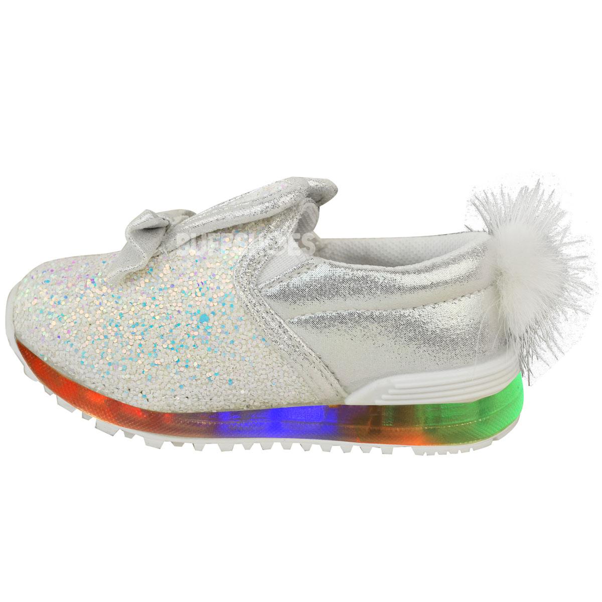 Nuevas Zapatillas Niñas Niños Bebes LED Intermitente Luz Bunny Zapatos Tenis Tamaño