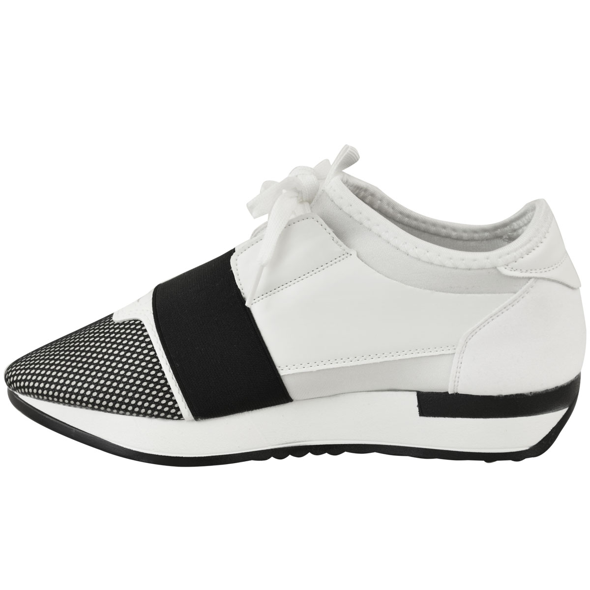 eef2c01d Details about Womens Ladies Sneakers Bali Trainer Runner Stretch Band Gym  Comfy Size