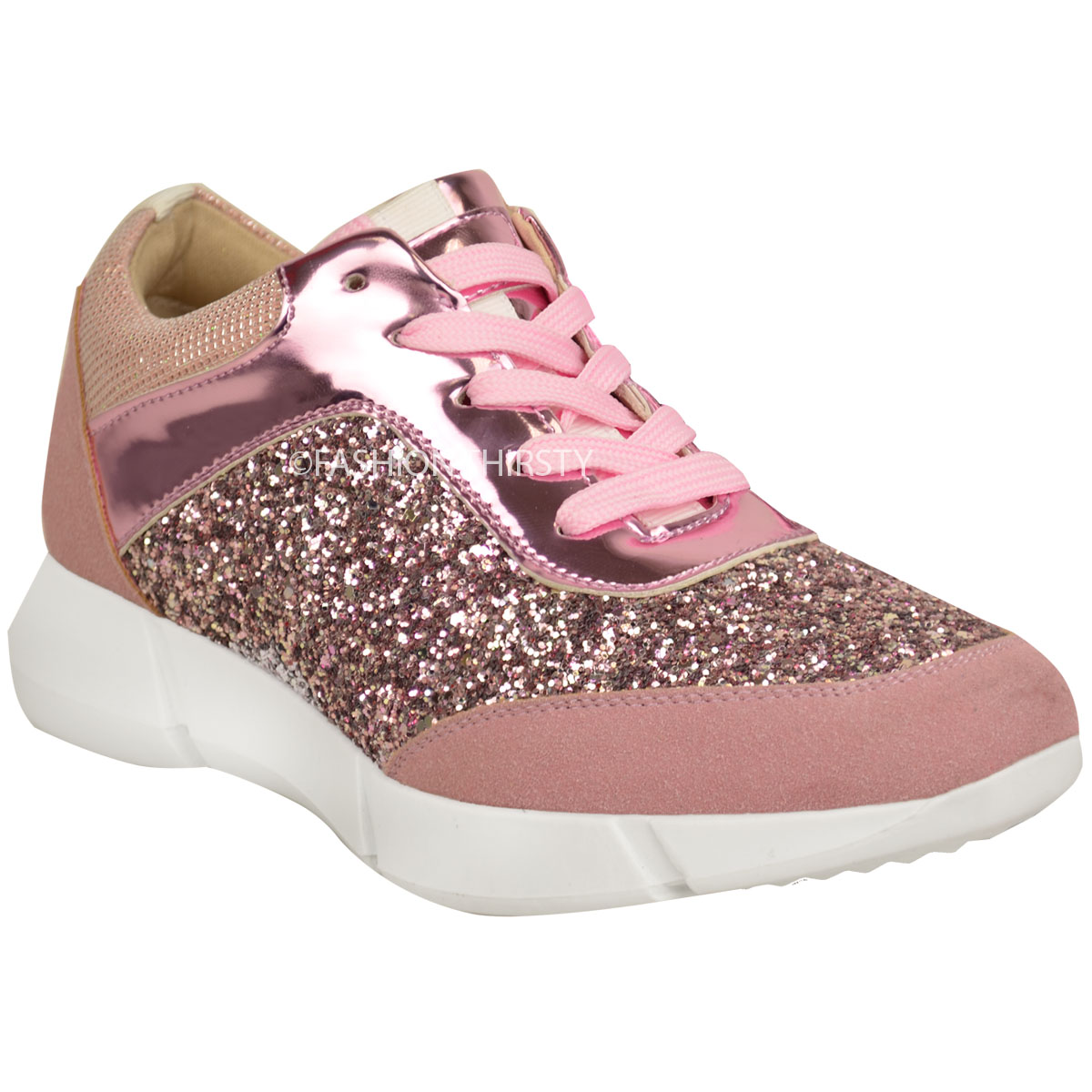 Pink Glitter Shoes For Women