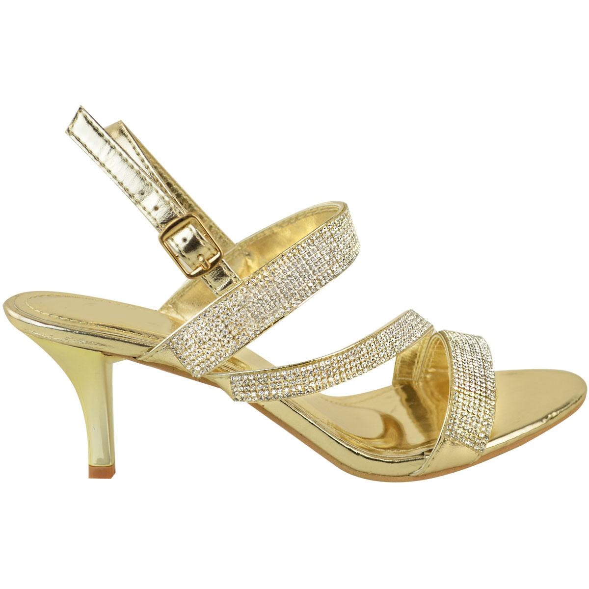Womens-Ladies-Diamante-Mid-Heel-Prom-Bridal-Wedding-Shoes-Evening-Sandals-Size