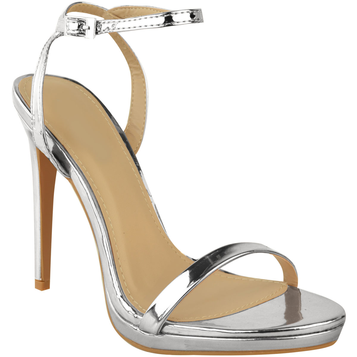 719df9f6 Womens Ladies Stiletto High Heels Sandals Barely There Party ...