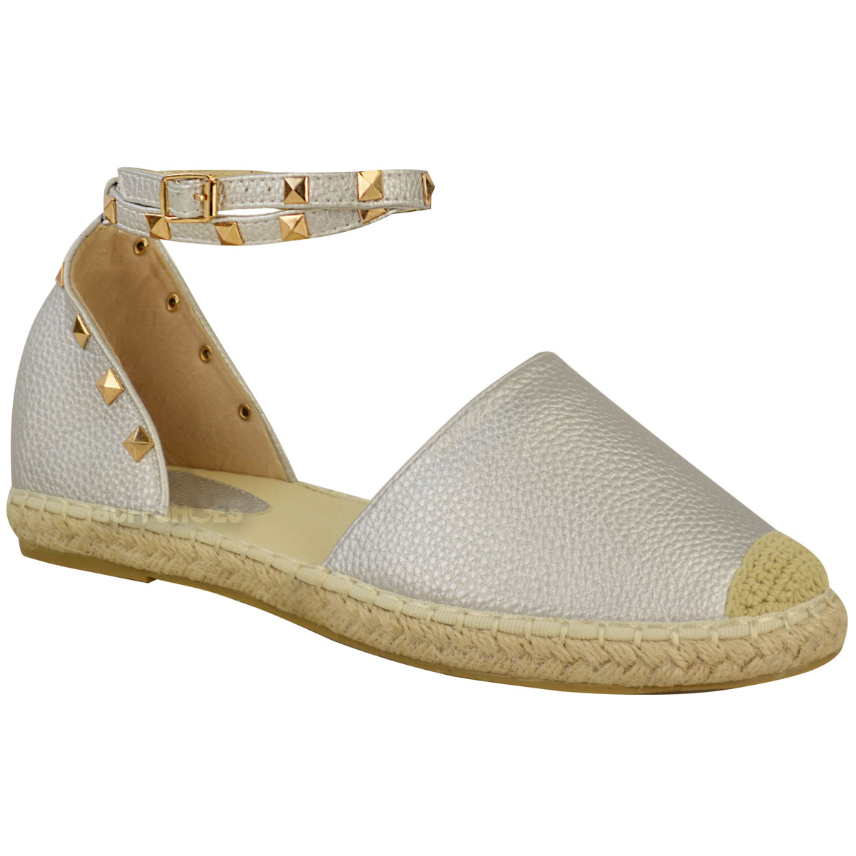 Women's Flat Comfy Espadrille Sandals Ladies Peep Toe Summer Flat Casual Shoes in Clothing, Shoes & Accessories, Women's Shoes, Flats & Oxfords Love the open toe; it's a flat and covers most of the foot for work appropriateness.