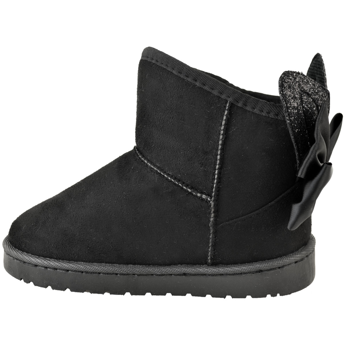 Girls Kids Childrens Snugg Winter Flat Ankle Boots Faux