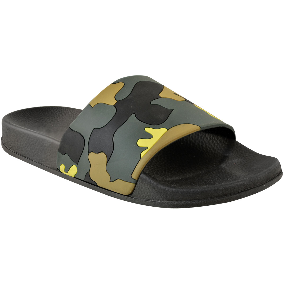 b51ac744f New Womens Ladies Camo Green Slides Summer Pool Sliders Sandals Flip ...