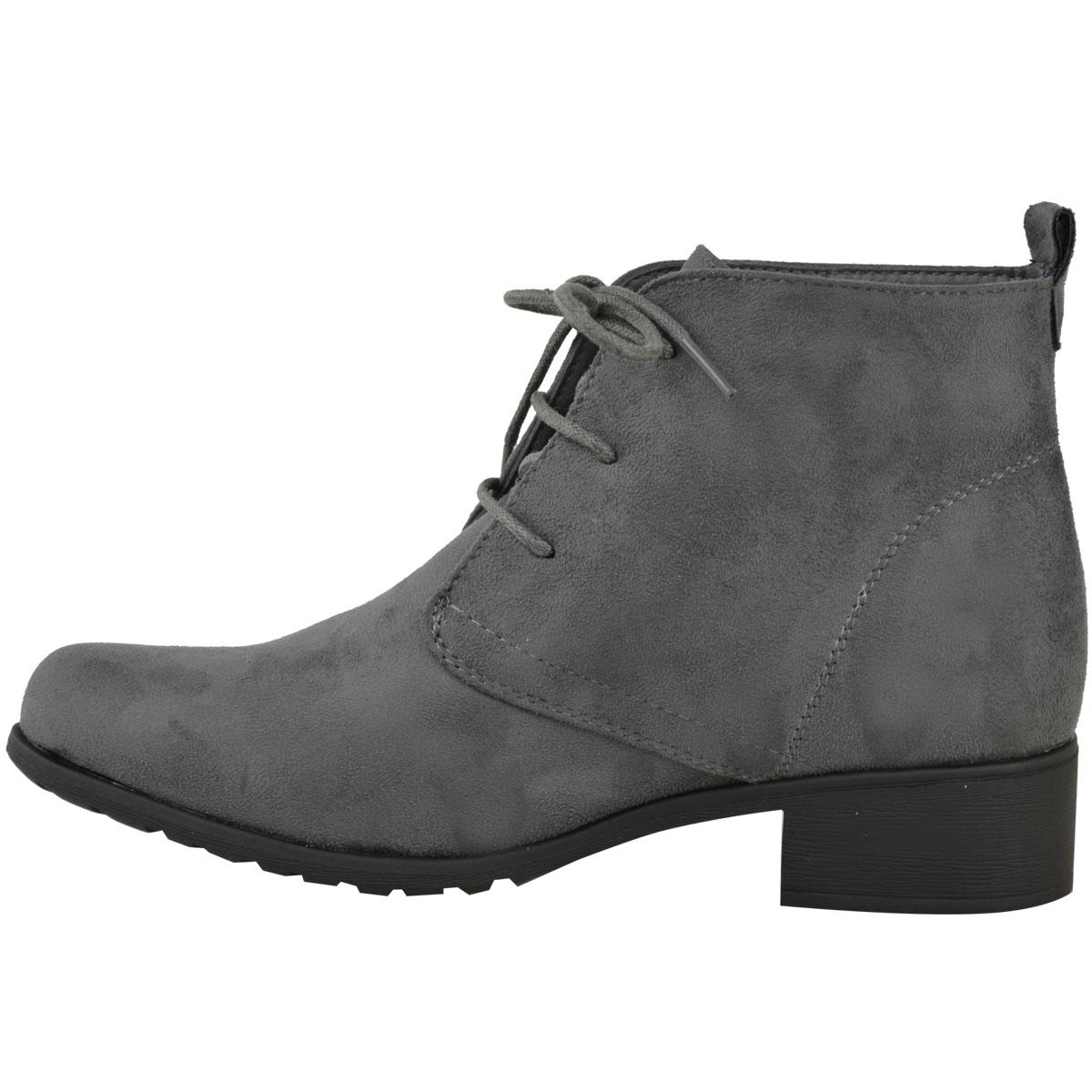 womens flat low heel black ankle boots work office