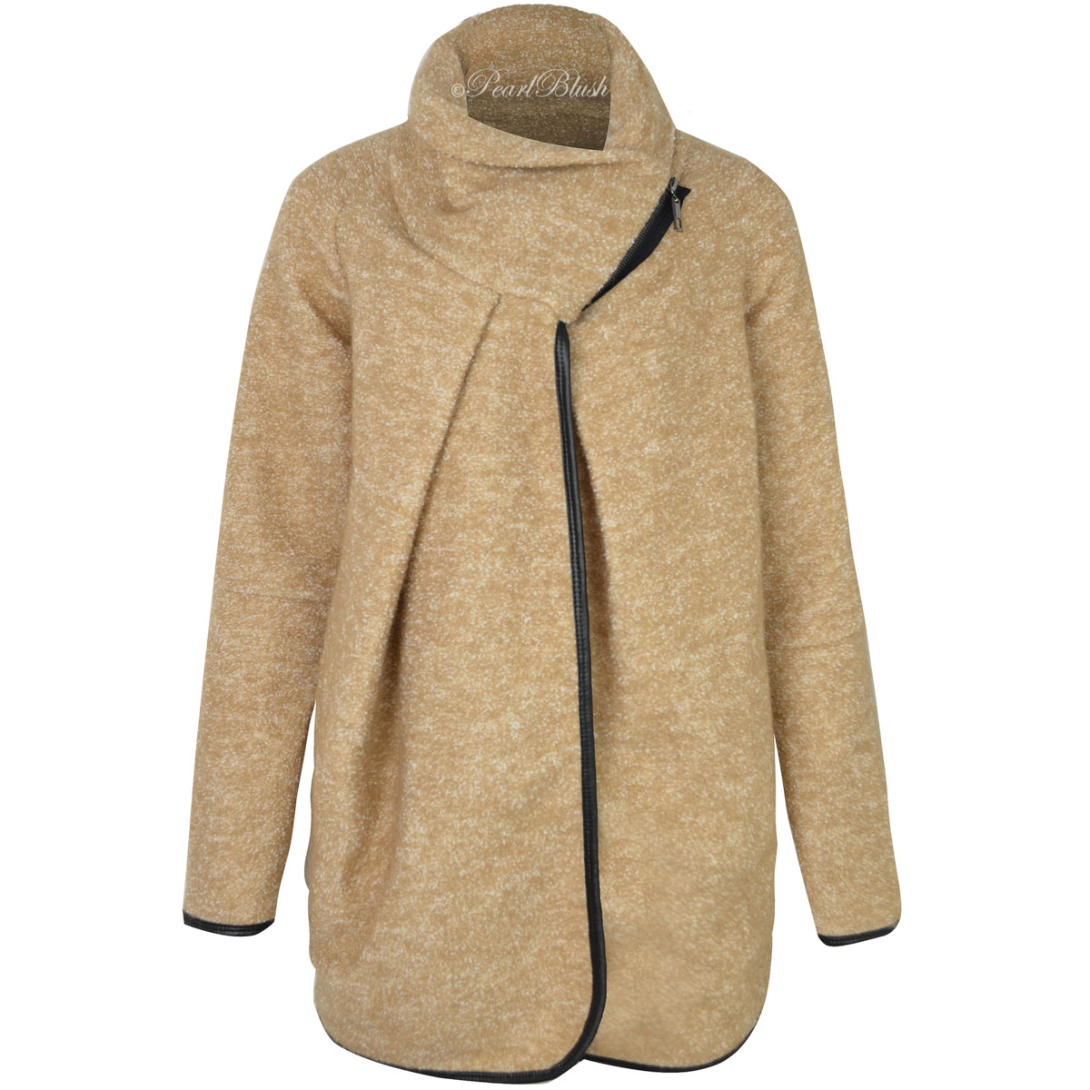 LADIES-WOMENS-OVERSIZED-CARDIGAN-WRAP-BAGGY-TURTLE-NECK- - LADIES WOMENS OVERSIZED CARDIGAN WRAP BAGGY TURTLE NECK JUMPER