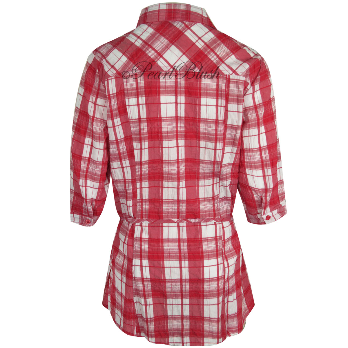 Plaid flannel shirts ladies sweater tunic for Redhead bear creek flannel shirt