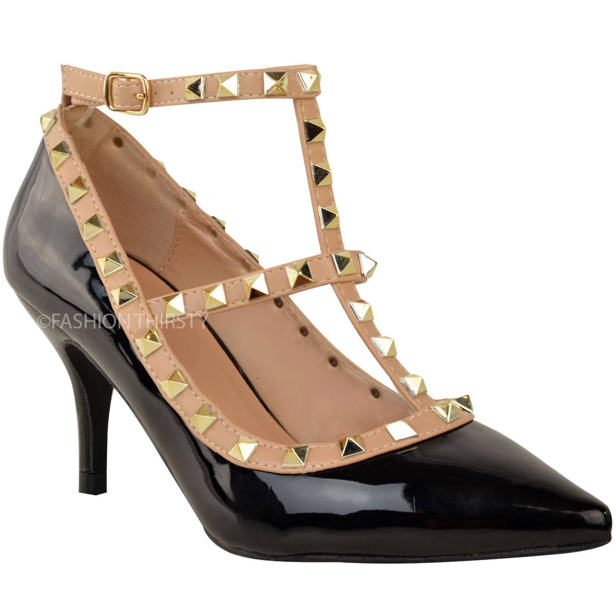 Shoes With Studs Low Heel