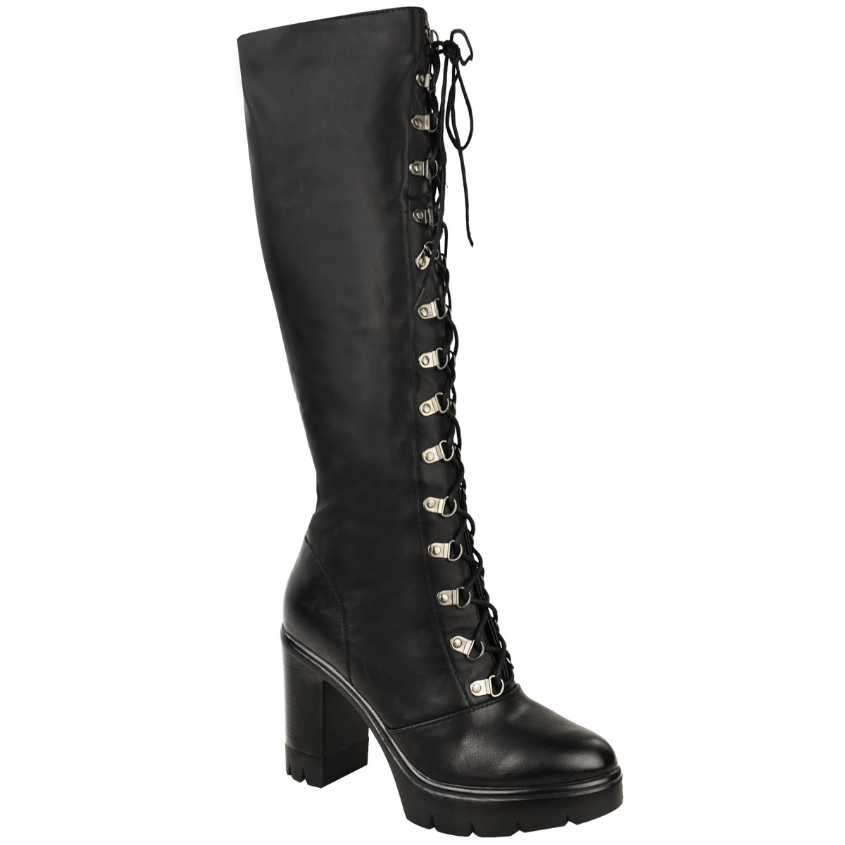 70s Zodiac Leather Boots . Lace Up Knee High Boots Size 7