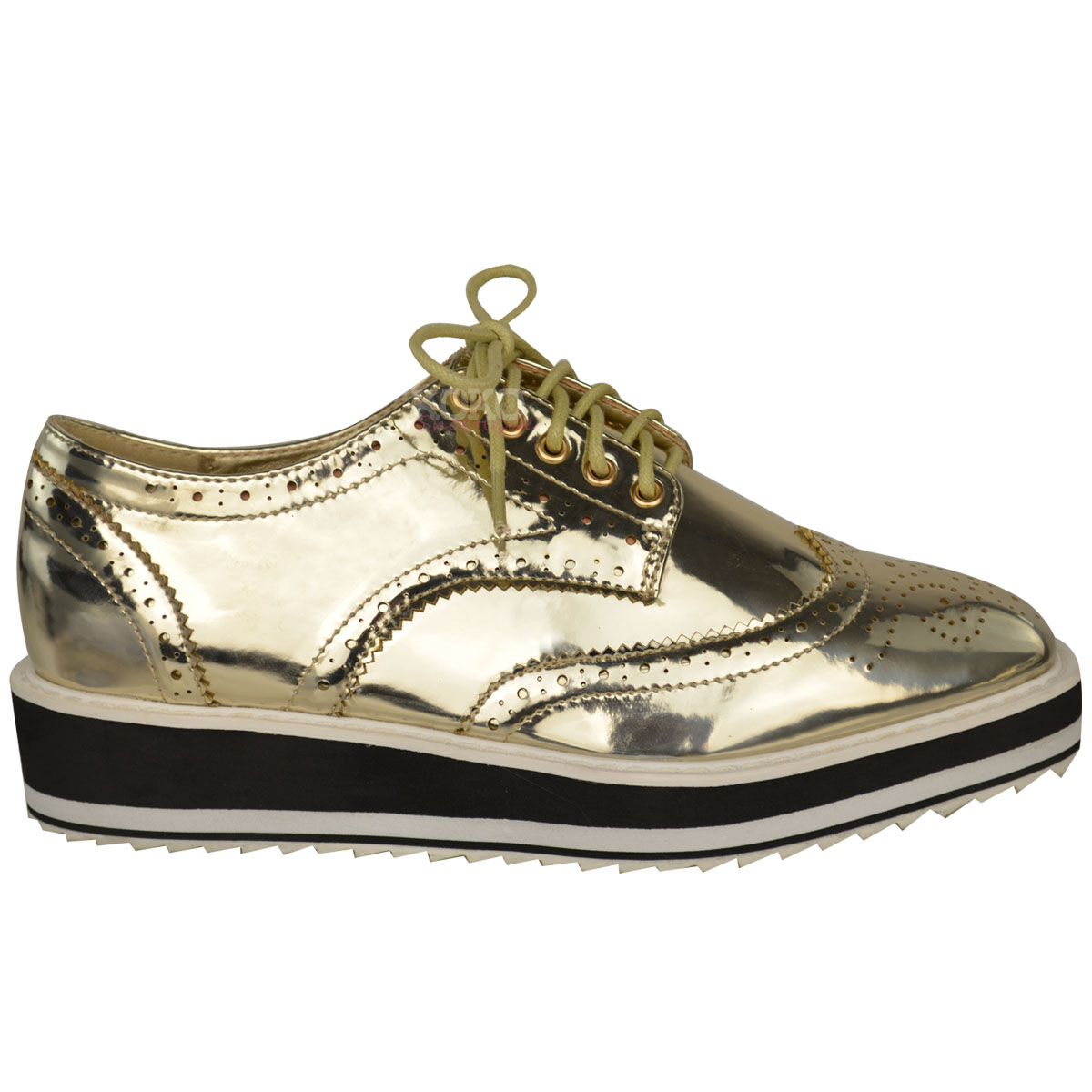 Model  Shoes Womens Smart 1290 Girona Women S Patent Leather Brogue Lace Up