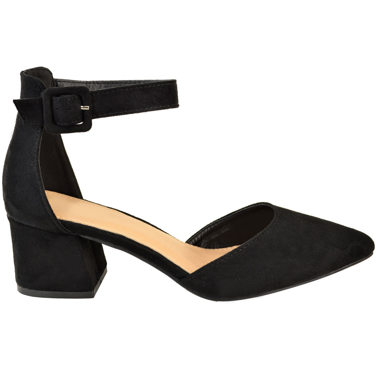 Womens Black Low Heel Shoes