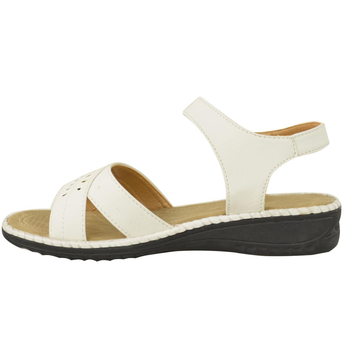 Ladies Womens Comfort Wide Casual Walking Flat Summer