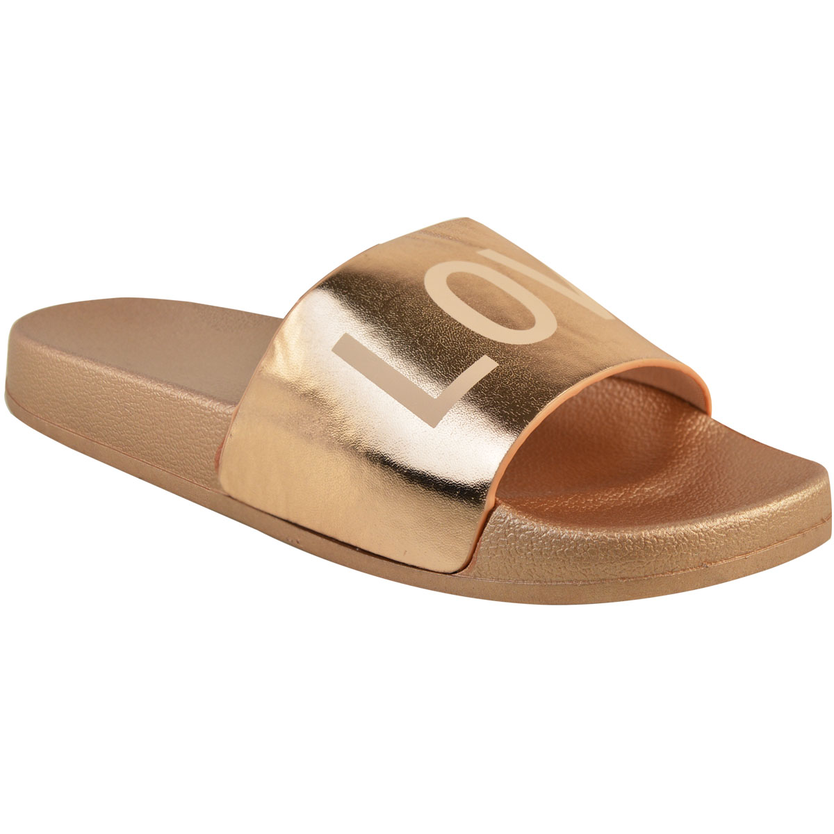 Love Sliders Womens Flat Summer Slip On Mules Size Slippers Sandals Shoes Ladies Size Mules 523f88