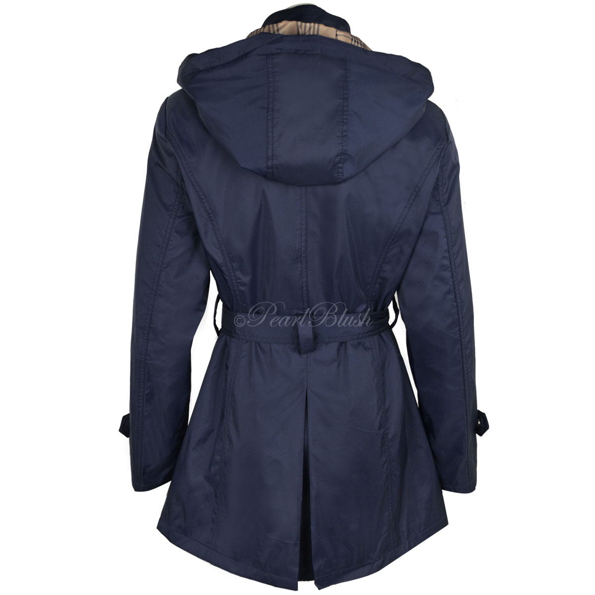 New Summer Mac Jacket Womens Ladies Coat Smart Belted Fitted ...
