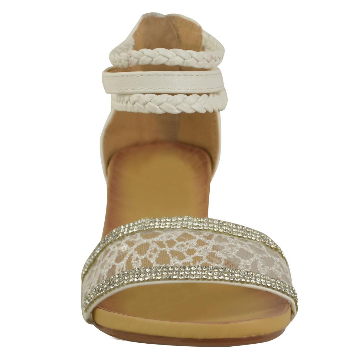 Mesdames-sandales-d-039-ete-pour-femme-talons-compense-bride-cheville-strass-et-dentelle-taille