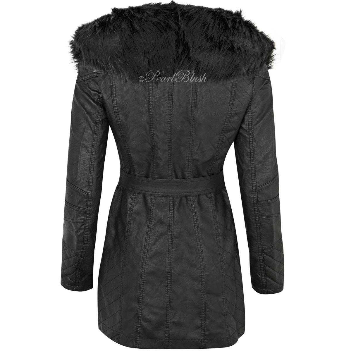 faux fur collar biker jacket ebay