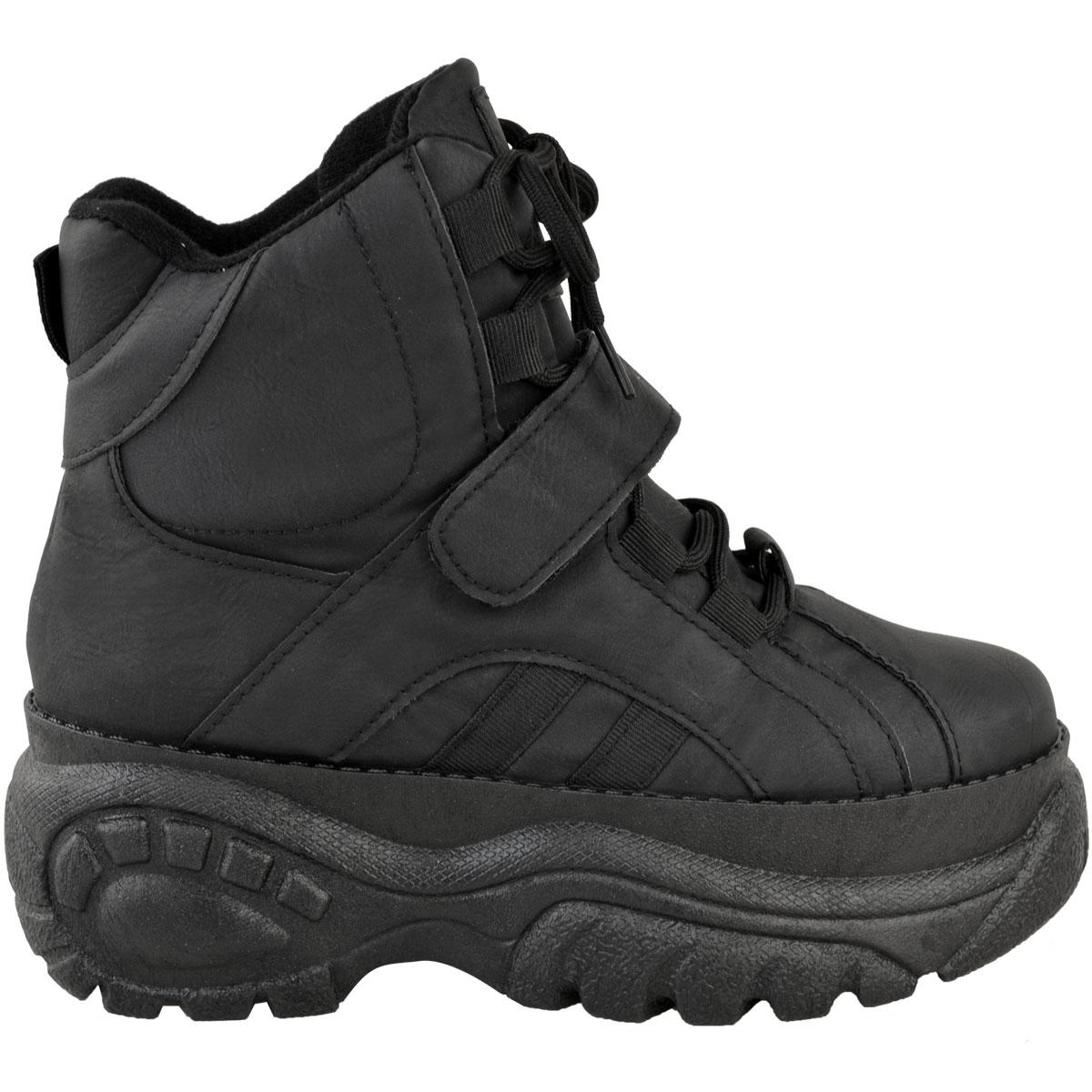 Womens-Ladies-High-Platform-Trainers-Sneakers-Retro-Boots-Hi-Top-Wedge-Punk-Goth thumbnail 4