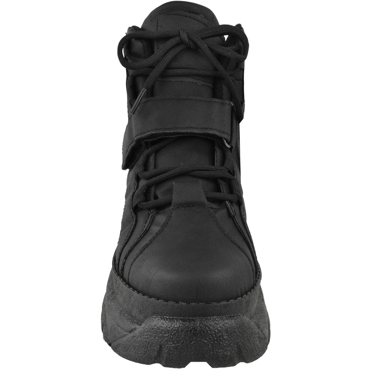 Womens-Ladies-High-Platform-Trainers-Sneakers-Retro-Boots-Hi-Top-Wedge-Punk-Goth thumbnail 6