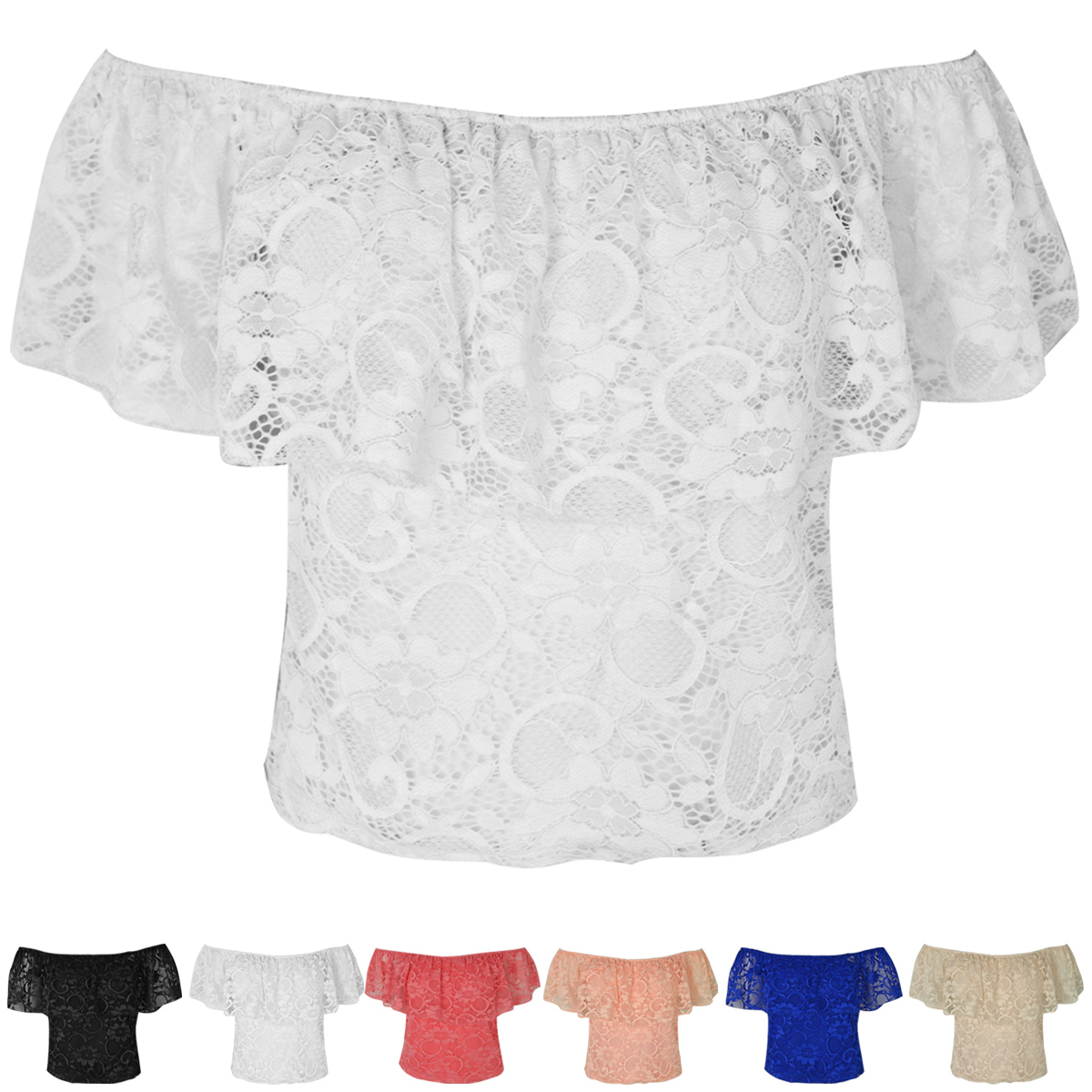 WOMENS-LADIES-LACE-CROCHET-OFF-SHOULDER-GYPSY-CROP-TOP-BOHO-FRILL-SUMMER-SIZE-UK