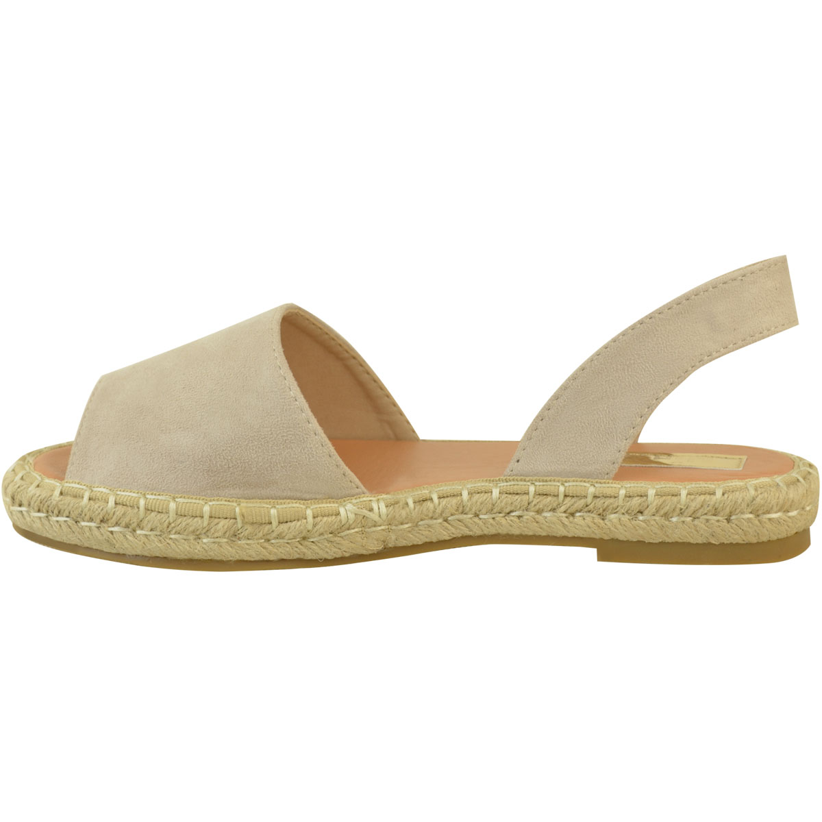 ec85734f962e8c Ladies Womens Plain Low Summer Beach Slingback Flat Menorcan Slip On ...