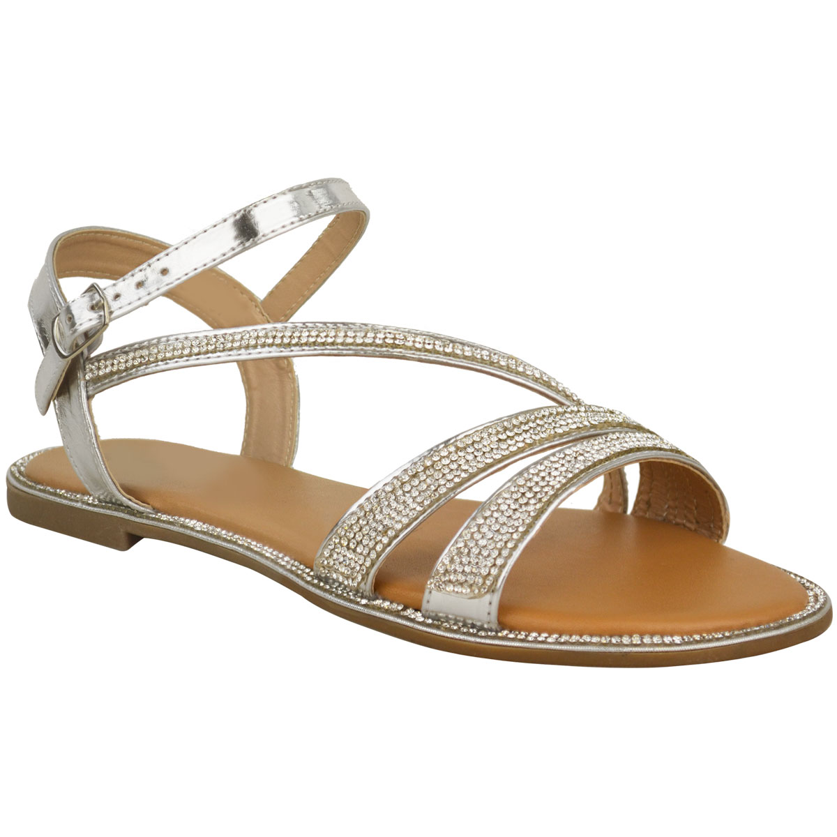 Women Flat Sandals Criss-Cross Open Toe Wide Elastic Strap Fashion Summer Shoes $ 10 99 Prime. 4 out of 5 stars Birkenstock. Gizeh Unisex Leather Sandals. from $ 95 95 Prime. out of 5 stars 1, CLARKS. Women's Leisa Annual Sandal. from $ 39 49 Prime. out of 5 stars 1, Skechers.