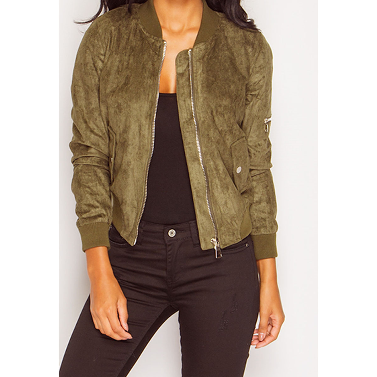 Suede jacket women