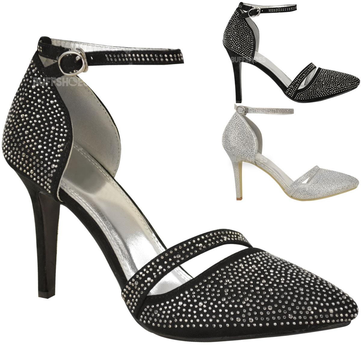 womens bridal wedding shoes prom diamante