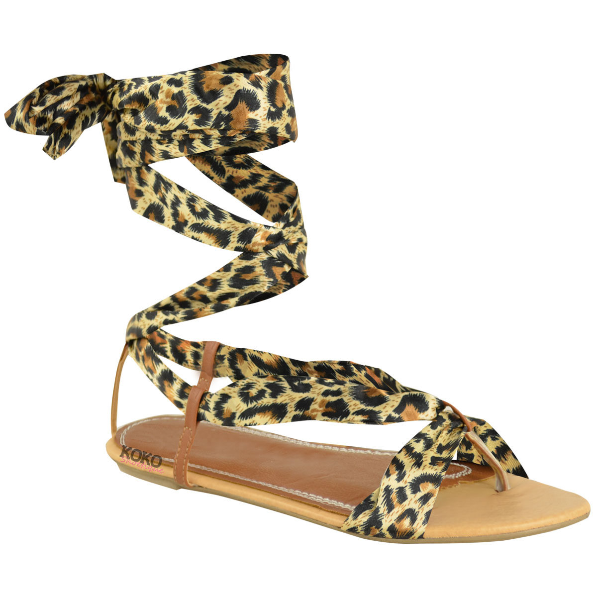 Beautiful  Co Louise Animal Print Sandals Size 7 For Women  Shoesdaily