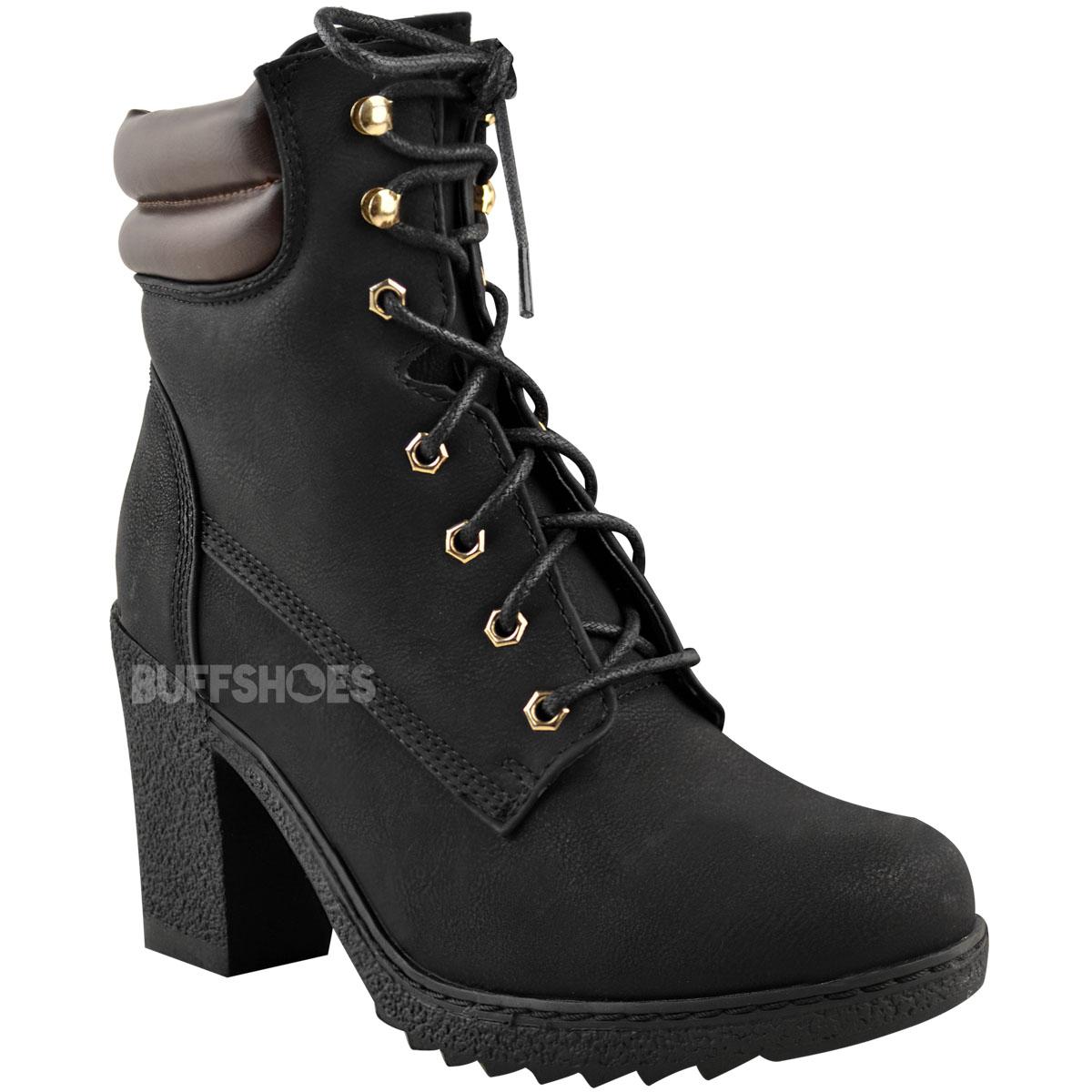 Womens-Ladies-Winter-Walking-Boots-Fleece-Warm-Lining-Cosy-Low-Block-Heel-Size Indexbild 3