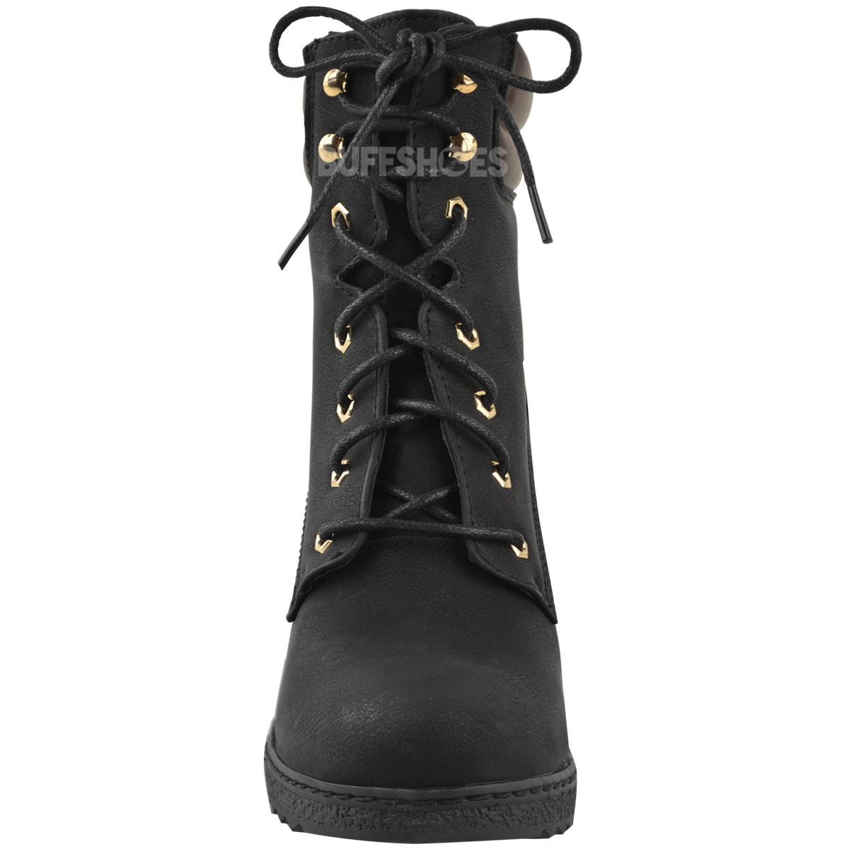 Womens-Ladies-Winter-Walking-Boots-Fleece-Warm-Lining-Cosy-Low-Block-Heel-Size Indexbild 6