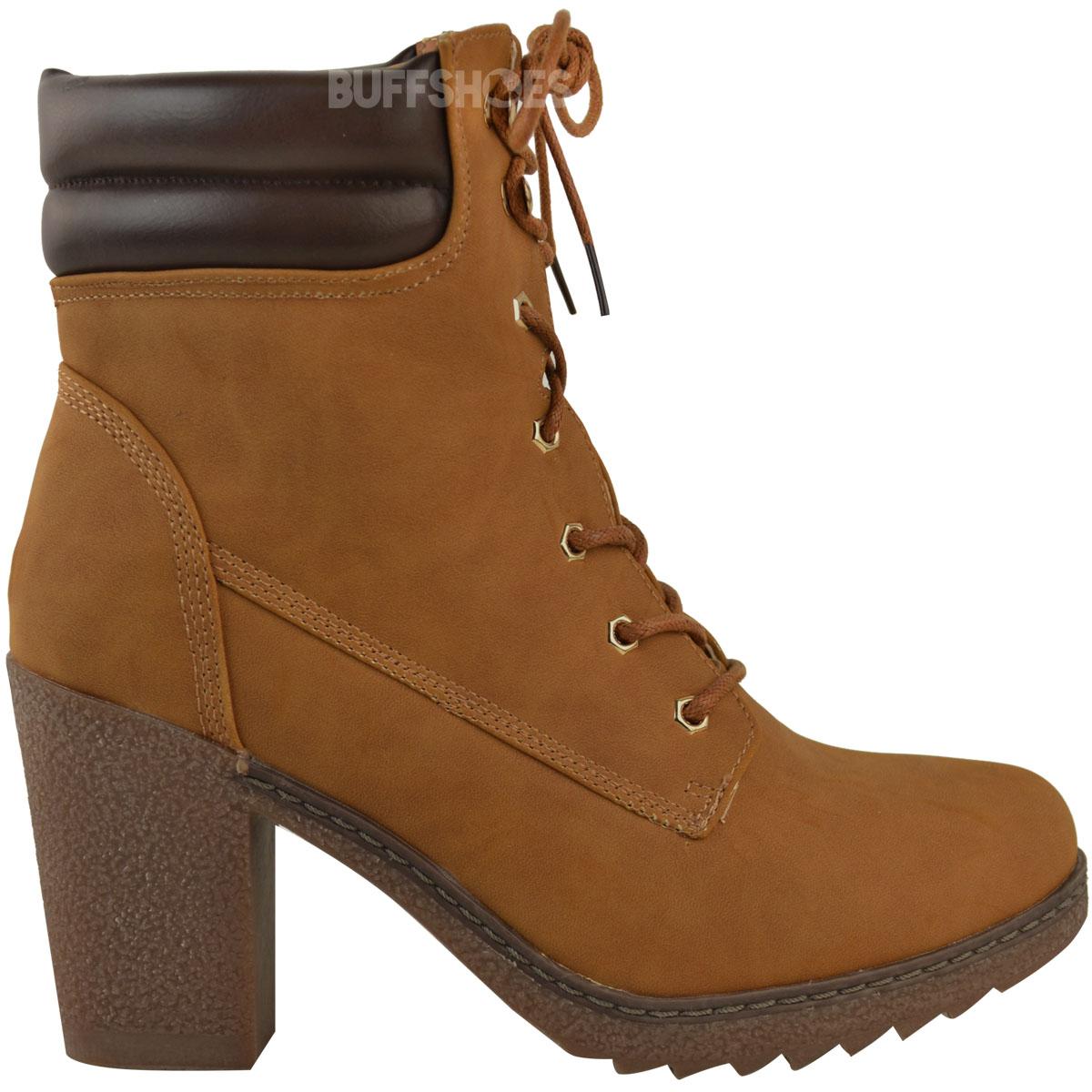 Womens-Ladies-Winter-Walking-Boots-Fleece-Warm-Lining-Cosy-Low-Block-Heel-Size Indexbild 9