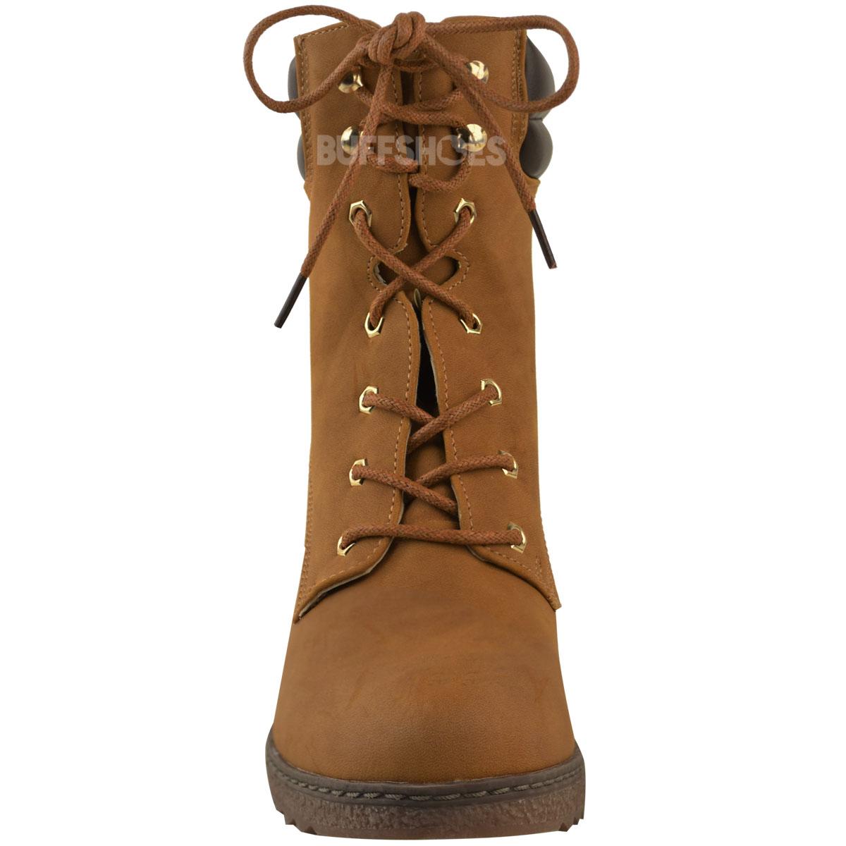 Womens-Ladies-Winter-Walking-Boots-Fleece-Warm-Lining-Cosy-Low-Block-Heel-Size Indexbild 11