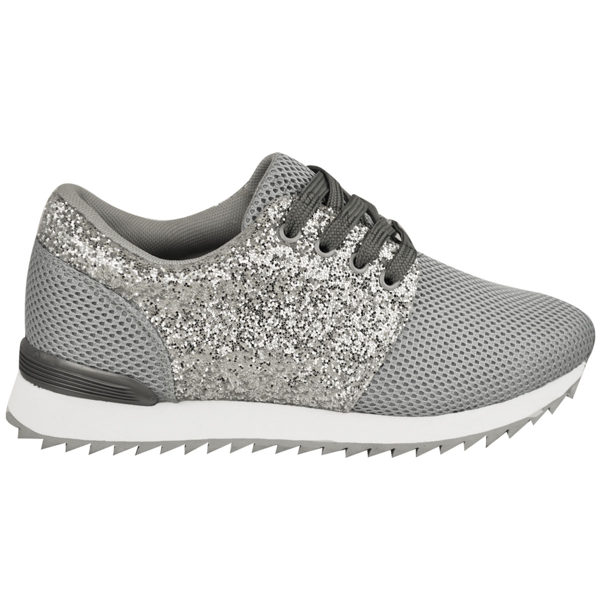 Womens Flat Lace Up Glitter Sparkly Sneakers Trainers Plimsolls Shoes Size. from $ 16 out of 5 stars Asushoes. Womens Forever Link Remy Lace up Glitter Fashion Sneaker w Elastic Tongue & White Outsole. from $ 13 out of 5 stars Mila Lady.