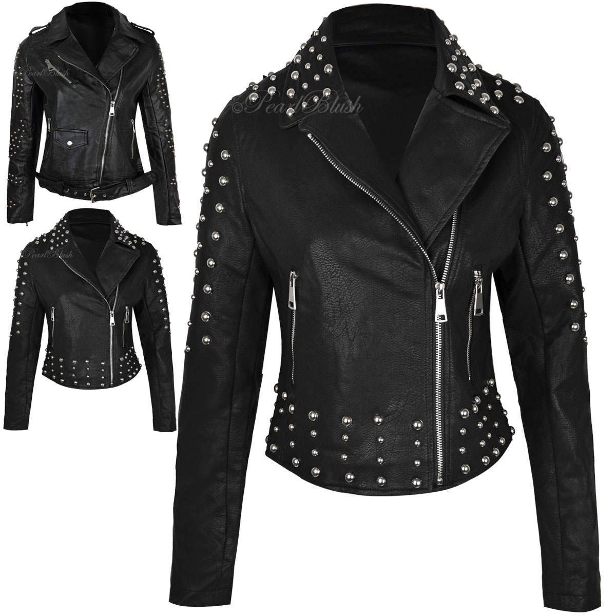 Punk leather jackets for women