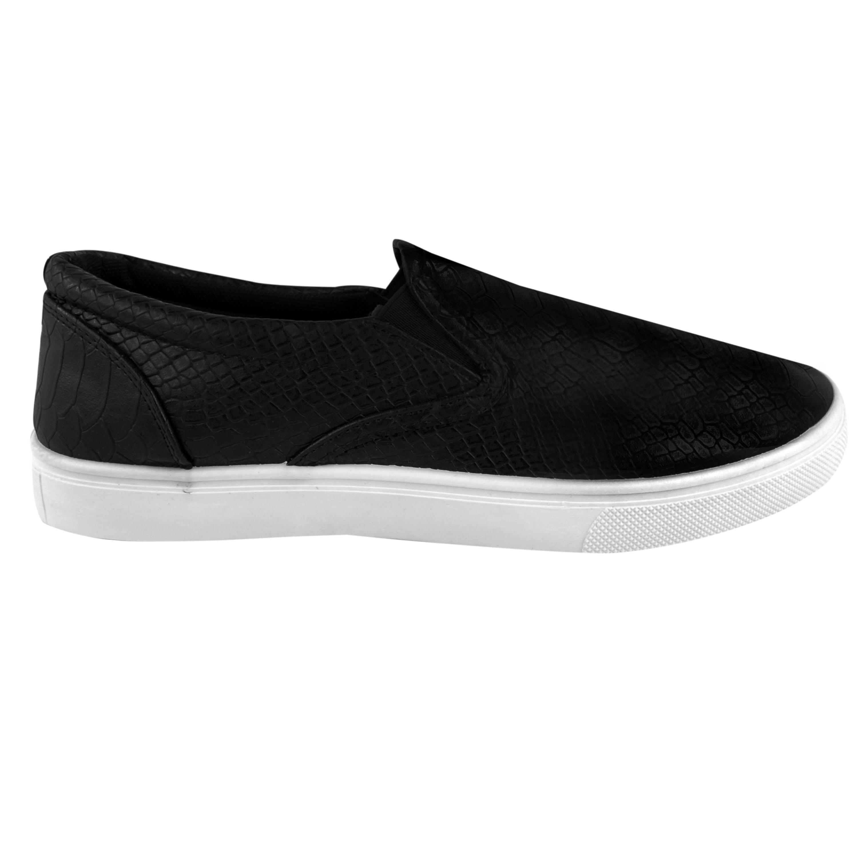 Mens Boys Skater Trainers Flat Slip ON Plimsolls School GYM Pumps Shoes Size | EBay