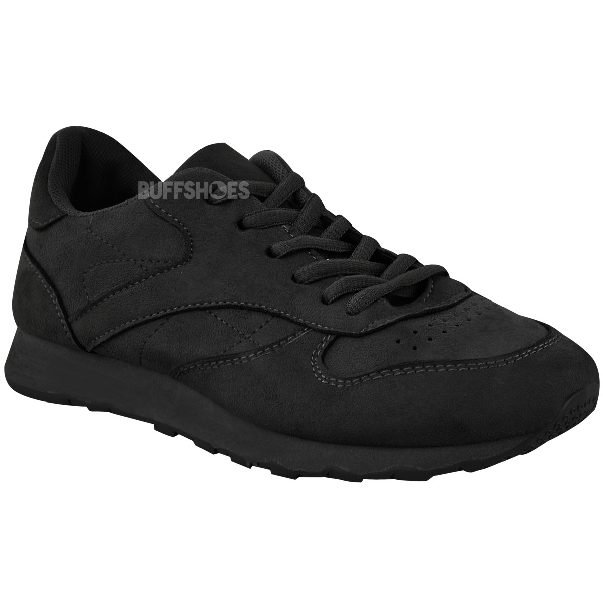 New Unisex Black White Classic Shoes Trainers Work School Casual Sneakes Size UK