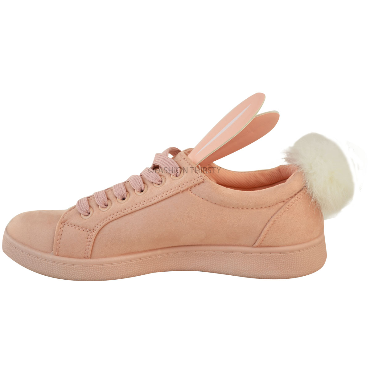 Ladies Bunny Flat Shoes