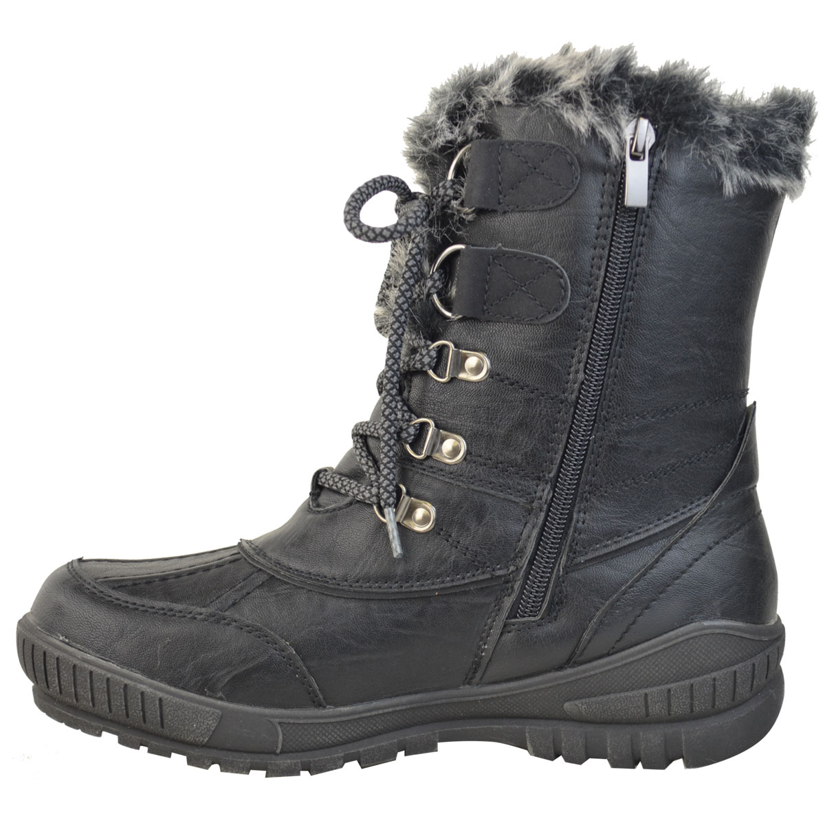 Womens-Ladies-Snow-Ski-Ankle-Boots-Winter-Rain-Thermal-Fully-Fur-Lined-UK-Size