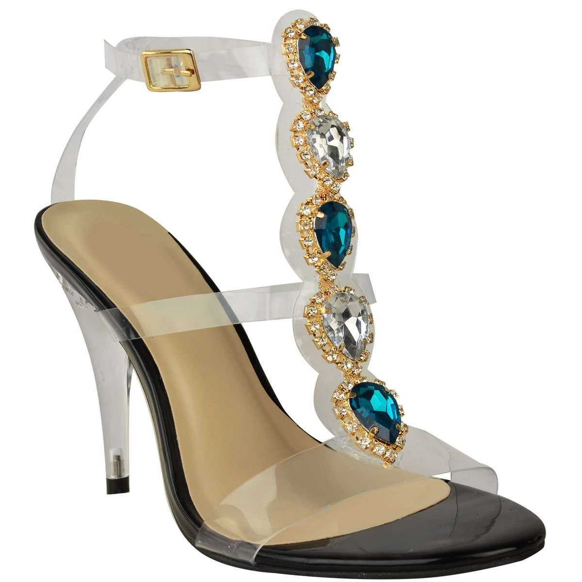 High-Heel-Party-Sandals-Jewel-Diamante-Embellished-Perspex-Prom-Wedding-Size-UK