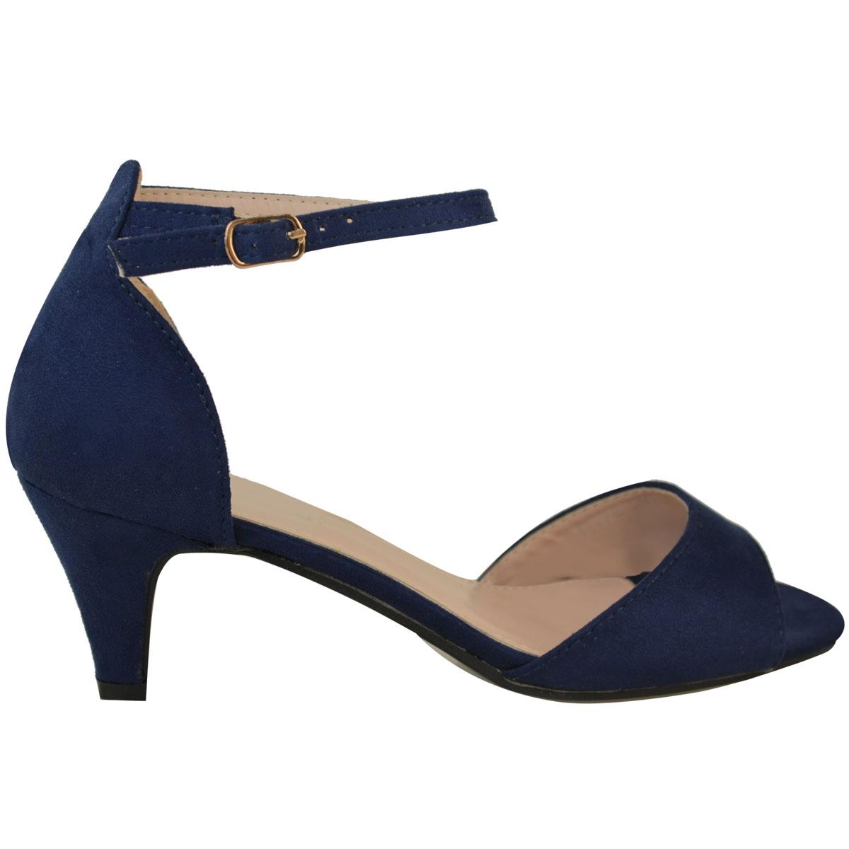 e75dff26aeb Womens Ladies Low Kitten Heel Wedge Court Shoes Black Work Sandals ...