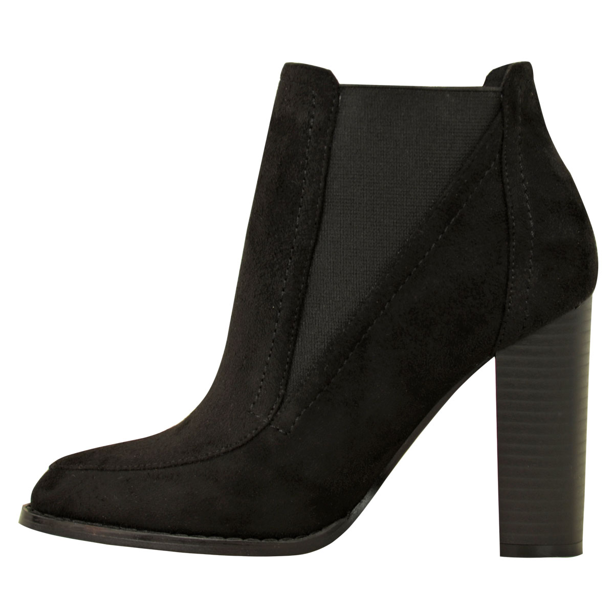 new womens low mid block heel ankle wedge boots