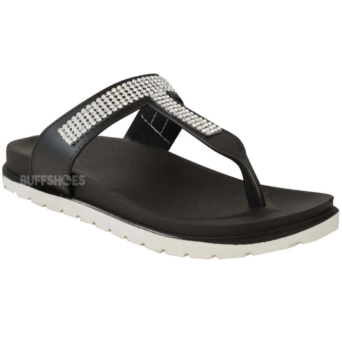 Womens-Ladies-Summer-Jelly-Sandals-Diamante-Wedge-Cushioned-Comfort-Shoes-Size thumbnail 3