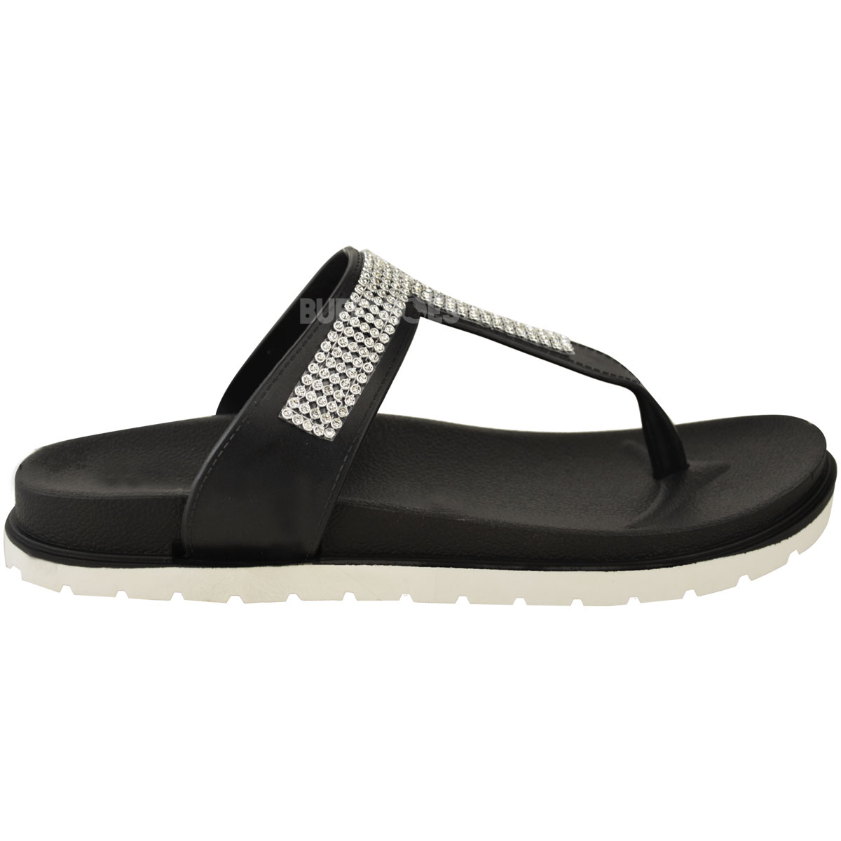 Womens-Ladies-Summer-Jelly-Sandals-Diamante-Wedge-Cushioned-Comfort-Shoes-Size thumbnail 4
