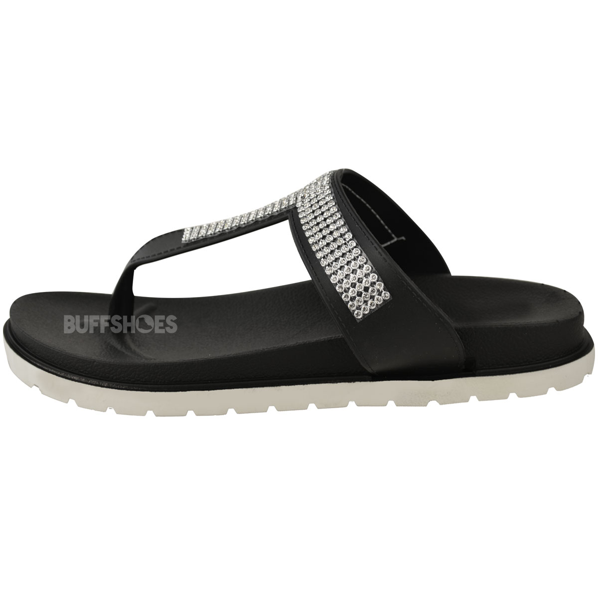 Womens-Ladies-Summer-Jelly-Sandals-Diamante-Wedge-Cushioned-Comfort-Shoes-Size thumbnail 5