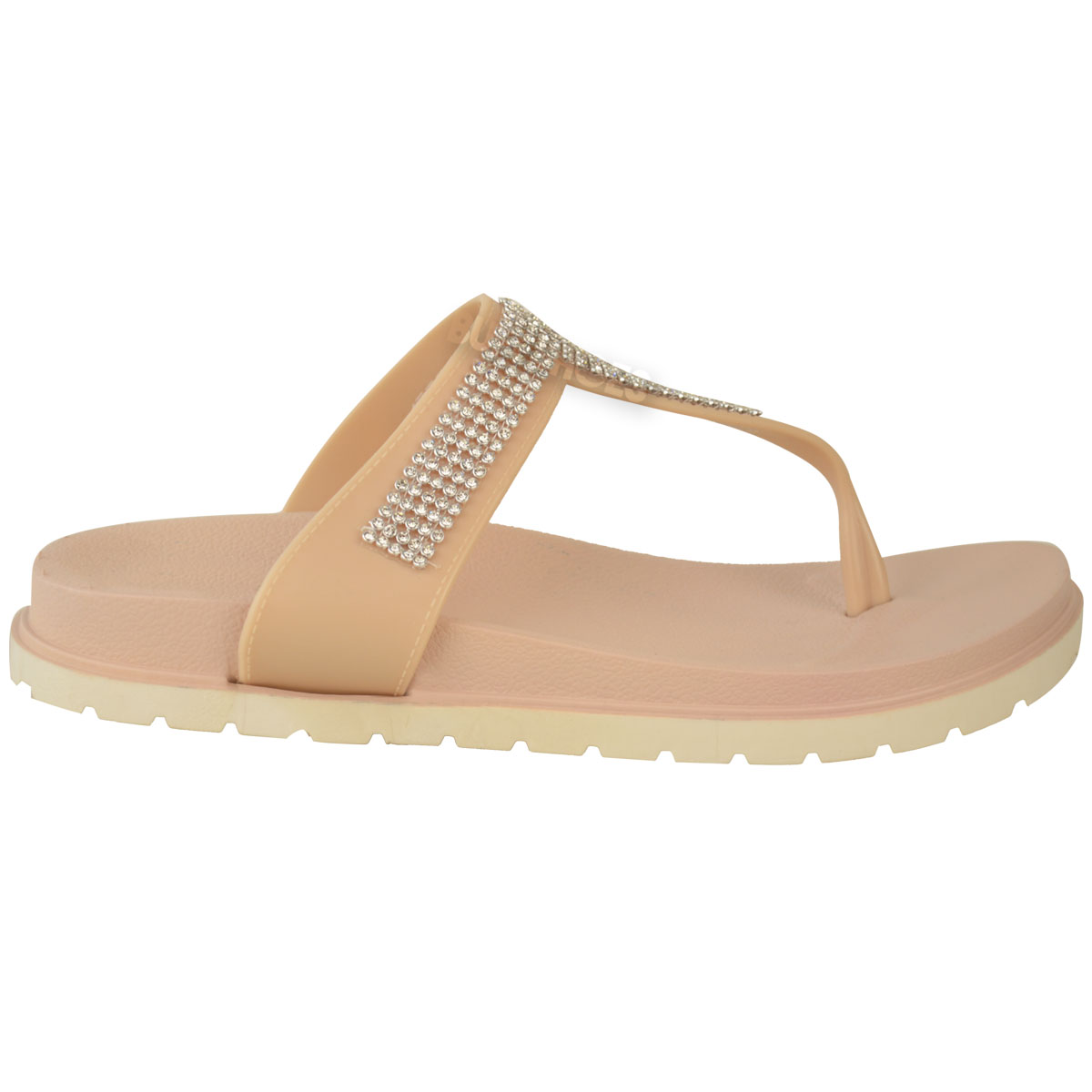 womens summer jelly sandals diamante wedge