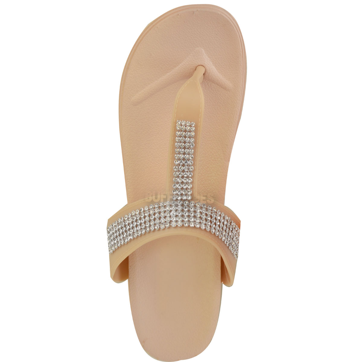 Womens-Ladies-Summer-Jelly-Sandals-Diamante-Wedge-Cushioned-Comfort-Shoes-Size thumbnail 13